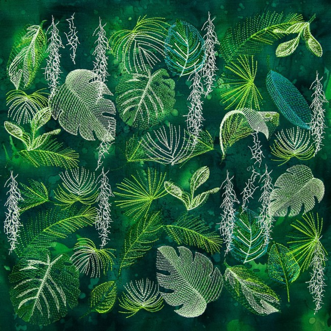 BFC1592 Backgrounds - Jungle Leaves