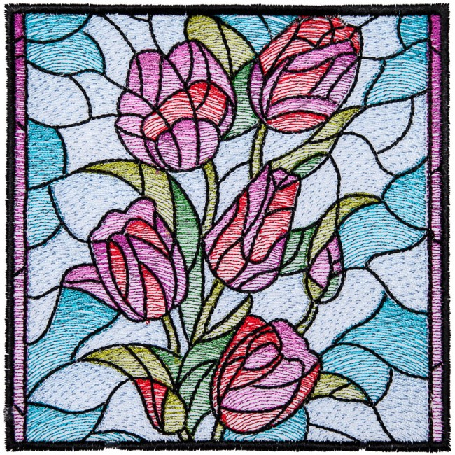 BFC1604 Stained Glass Quilt Squares- The Seasons