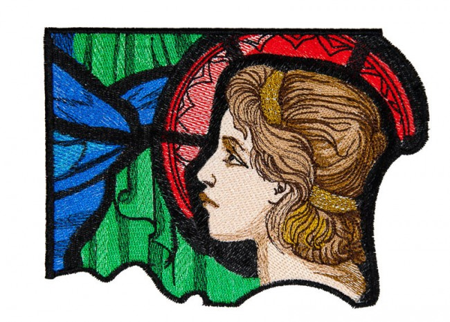 BFC1610 Stained Glass - An Angel Prays