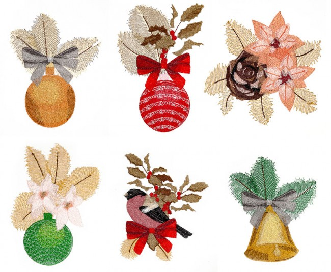BFC1613 Six Christmas Ornaments