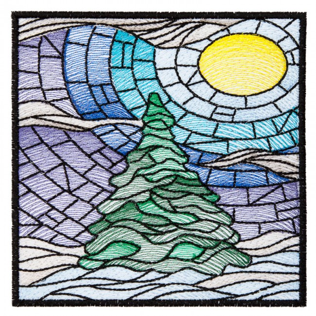 BFC1632 Stained Glass Quilt Squares- Winter