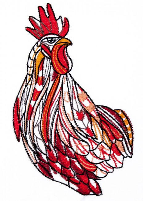 BFC1636 Large Tribal Rooster