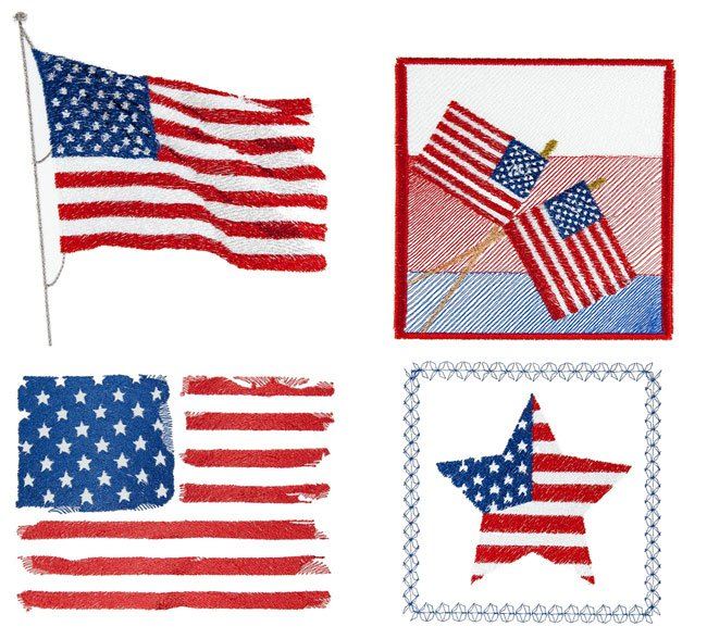 BFC1668 American Flags Fun Set