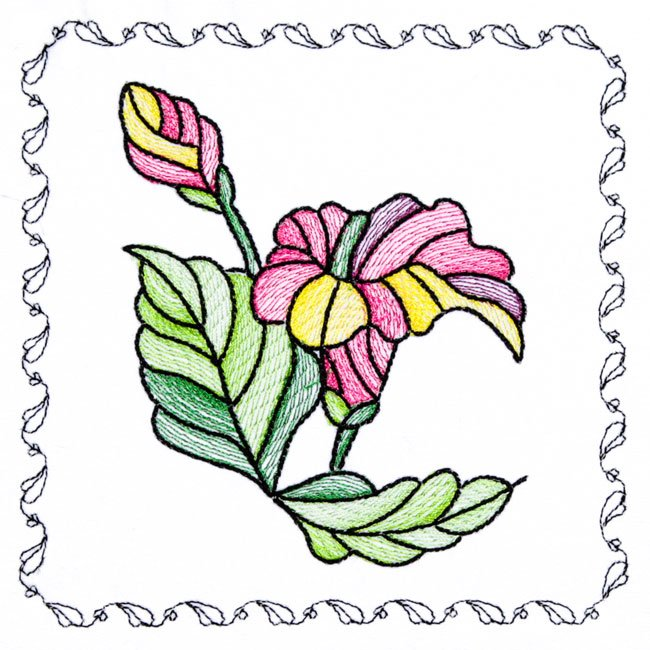 BFC1742 Stained Glass Floral Blocks