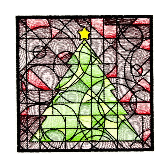 BFC1764 QIH- Stained Glass Quilt Squares- Christmas