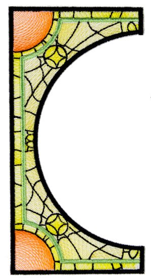 BFC1765 Stained Glass Circles and Frames - Part 3