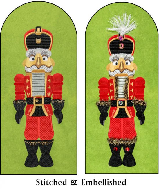BFC1767  Large Black And Red Nutcracker