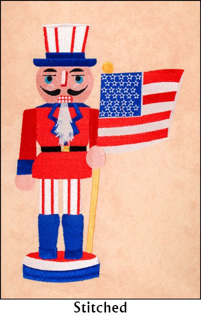BFC1770 Split Patriotic Nutcracker