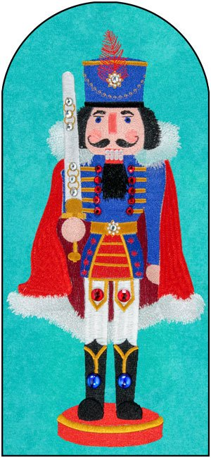BFC1773 Large Blue And Red Nutcracker