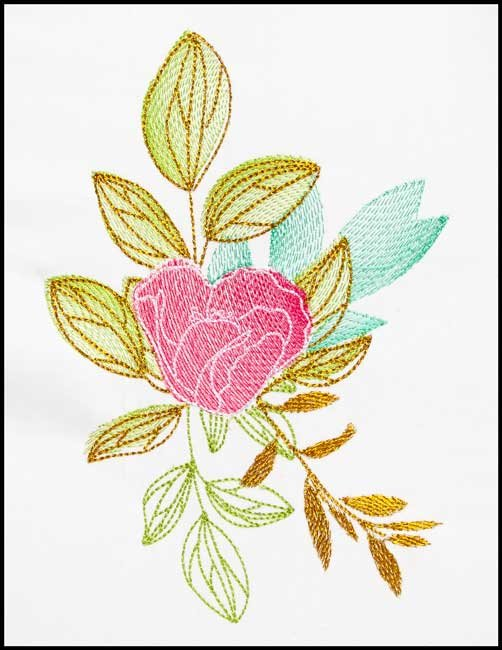 BFC1791 Watercolor Wild Roses