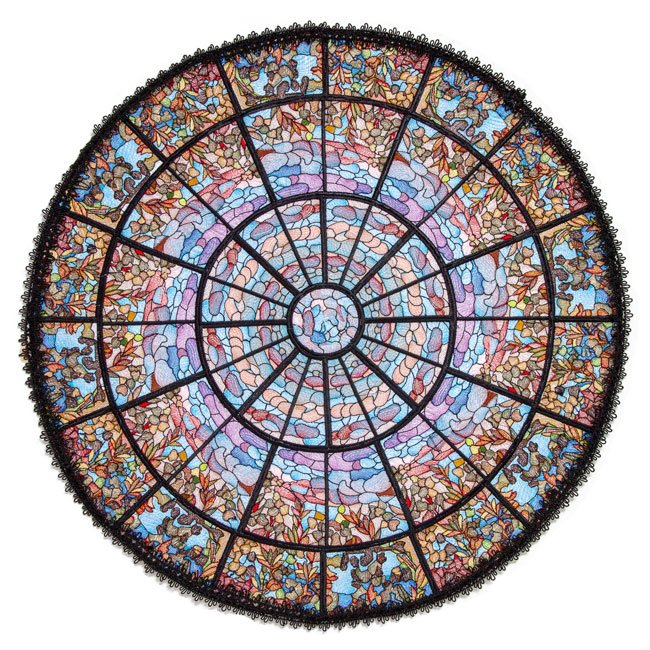 BFC1824 Stained Glass El Paso Rose Window
