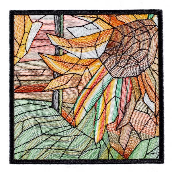 BFC1889 Variegated Sunflowers Stained Glass
