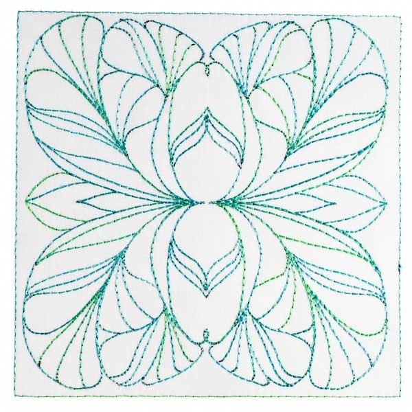 BFC1891 Art Nouveau Ornamental Quilt Blocks