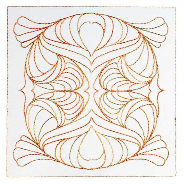 Art Nouveau Ornamental Quilt Blocks 7&8