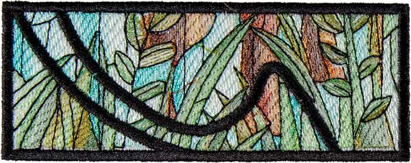 BFC1895 Variegated Horses Stained Glass
