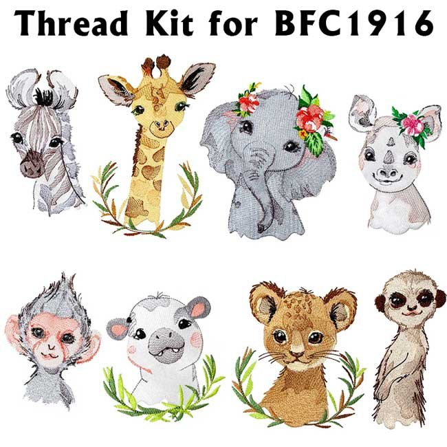 BFC1916 Baby Animals from Africa Thread Kit