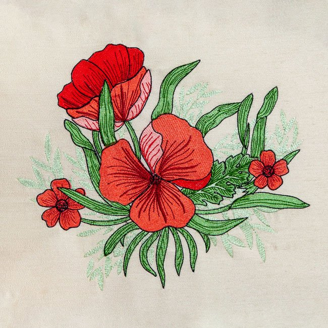 BFC1976 A Touch of William Morris - Poppies