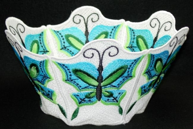 BFC0211 Lace Bowl & Doily Chinese Butterflies