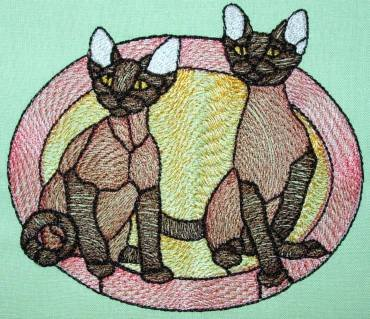 BFC0278 Stained Glass Cats