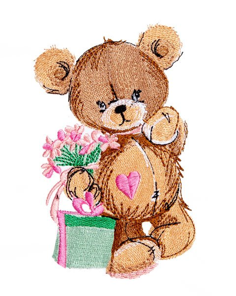 Teddy Bear with Gifts