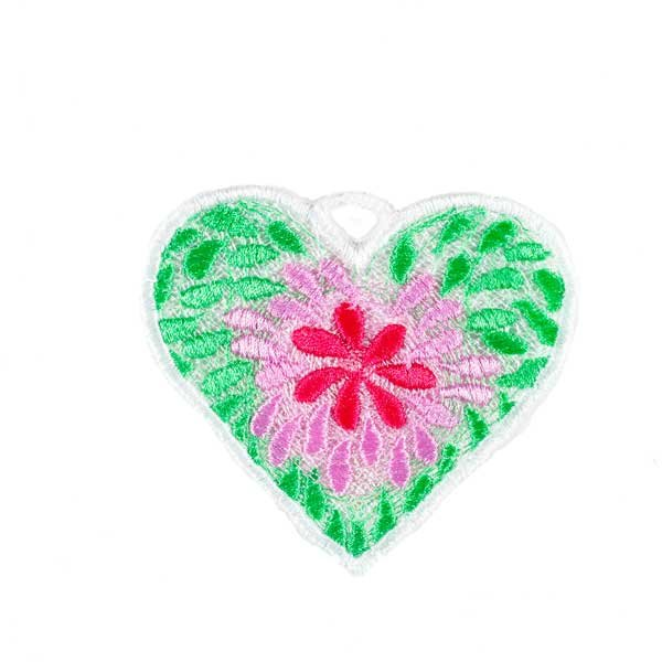 FSL Flower and Leaves Heart