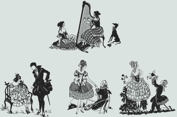 BFC0424 Silhouettes From The 20s II