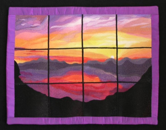 BFC0457 Stained Glass-Sunset