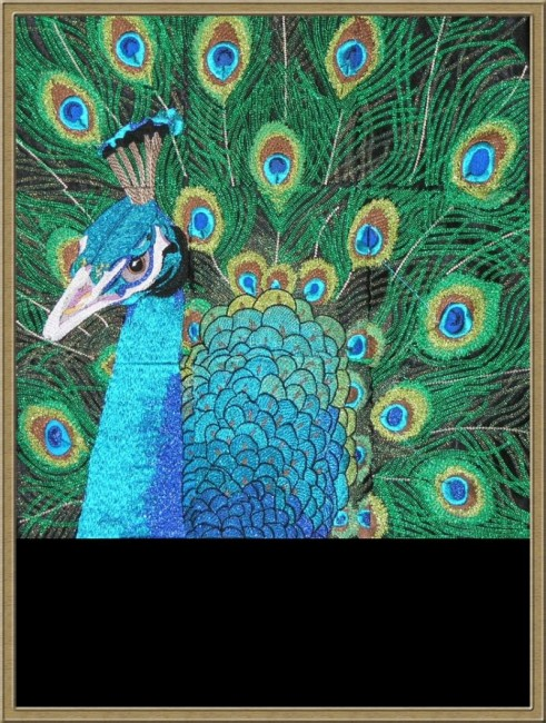 BFC0461 Stained Glass- The Peacock