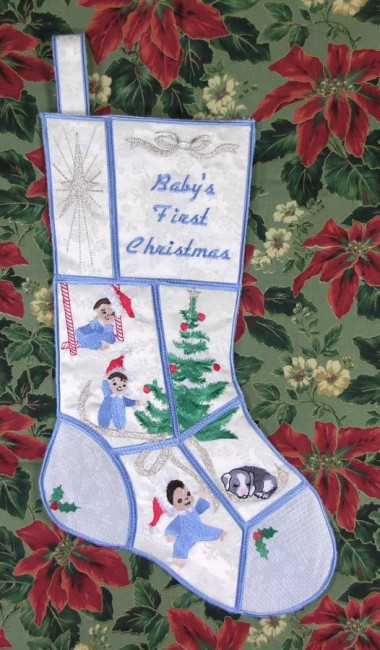 BFC0604 Quilt in the Hoop Christmas Stocking IV
