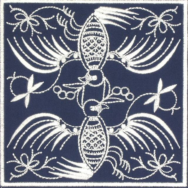 BFC0640 Quilt In the Hoop Chinese Indigo Quilt Blocks I