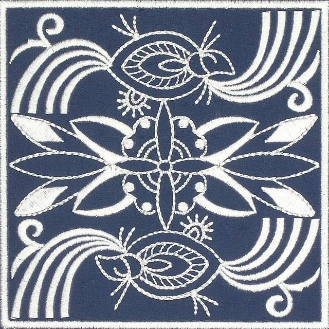 BFC0641 Quilt In the Hoop Chinese Indigo Quilt Blocks II