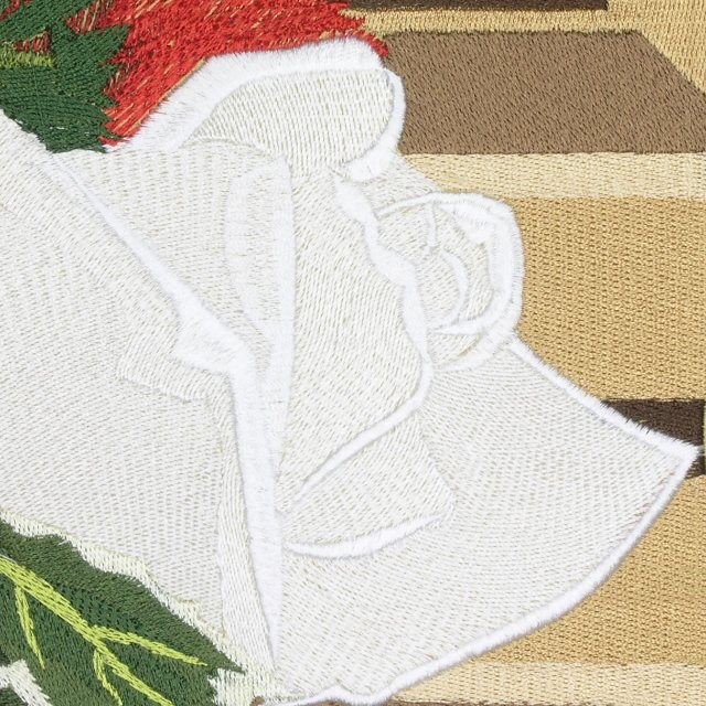BFC0647 Window-Holly and White Roses
