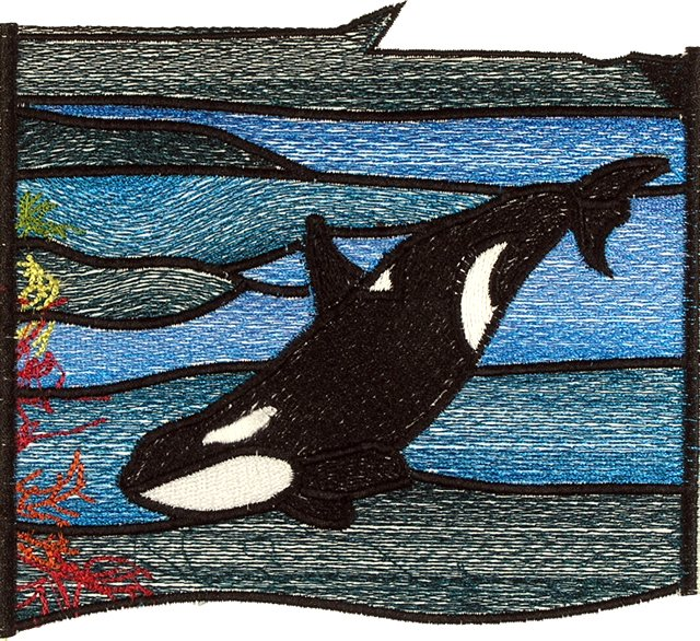 BFC0658 Stained Glass- Orcas
