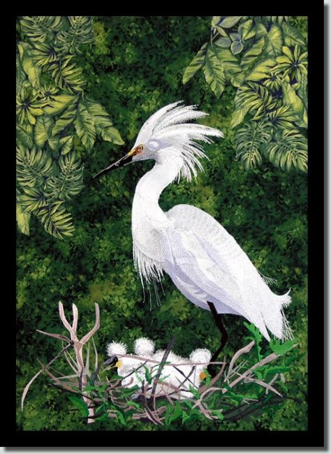 BFC0686 Snowy Egret Thread Kit