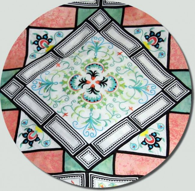 BFC0754 Ancient Italian Tiles Centerpiece, Borders and Corners