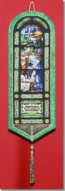 BFC0775 QIH Bell Pull - Stained Glass Nativity
