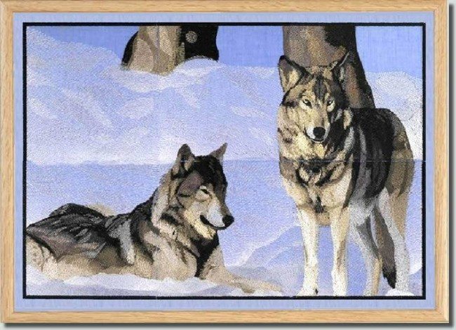 BFC0778 Window - Two Wolves