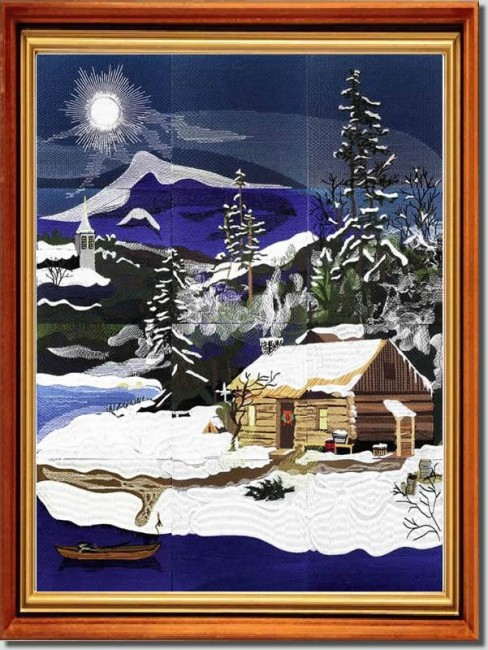 BFC0783 Window - Four Seasons - Winter Peace