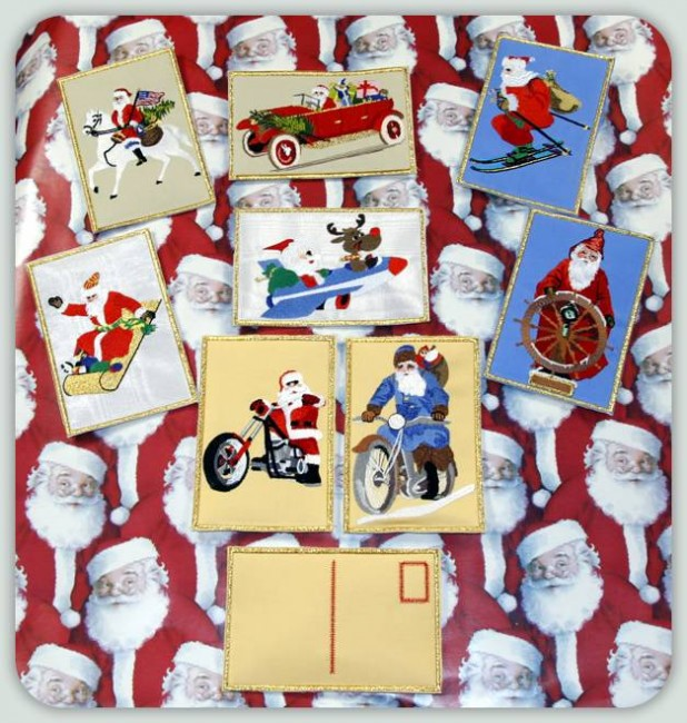BFC0798 Postcards - Santa on the Move