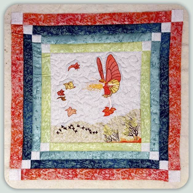 BFC0799 Block 5 of 12 Fairy Land Quilt - The Autumn Fairy
