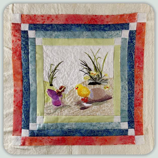 BFC0811 Block 9 of 12 Fairy Land Quilt - The Fairy and the Chick