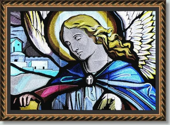 BFC0883 Stained Glass Angel