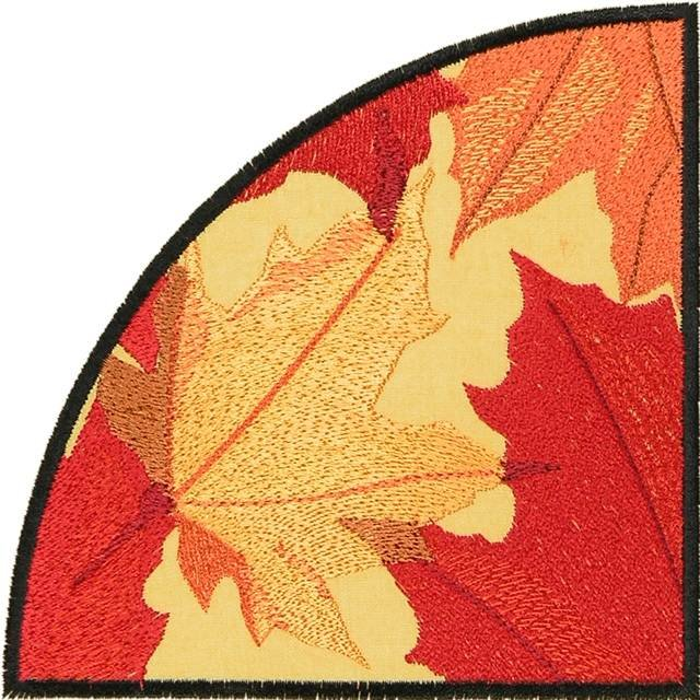BFC0885 QIH-Autumn Leaves in the Round Times Two