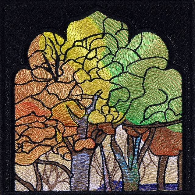 BFC0910 Stained Glass Tiffany Landscape