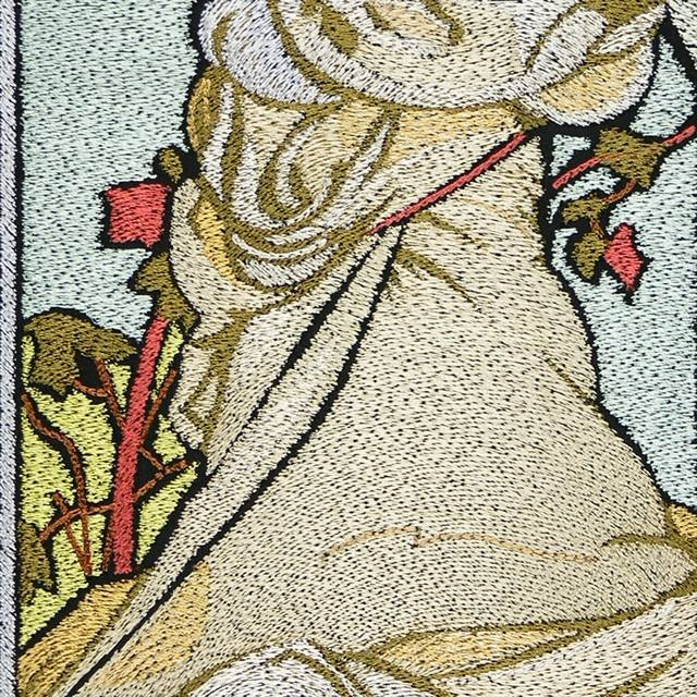 BFC0922 Stained Glass-Alphonse Mucha-Summer