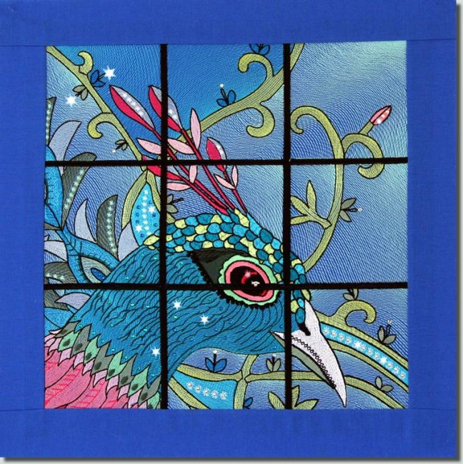 BFC0955 QIH-Stained Glass-Fantasy Peacock