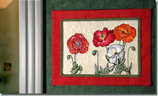 BFC0997 Poppies with Oriental Influence