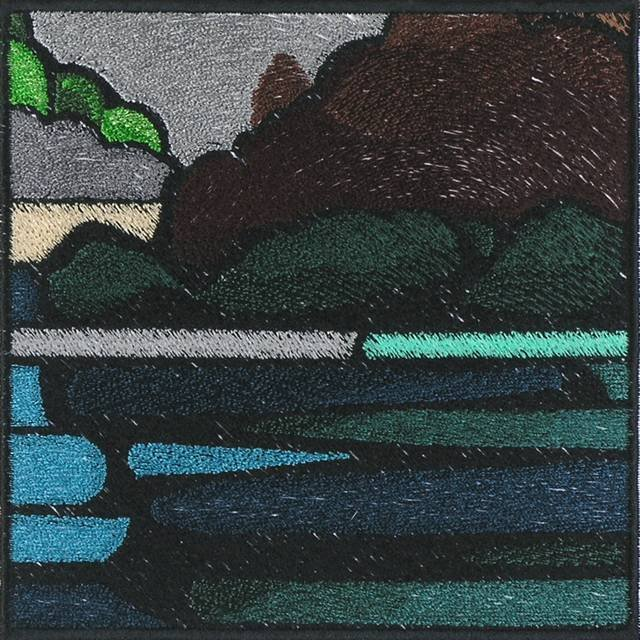 BFC0999 QIH-Reg Stained Glass Landscape