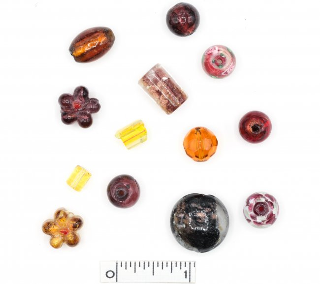 Assorted Lampwork Beads - Browns
