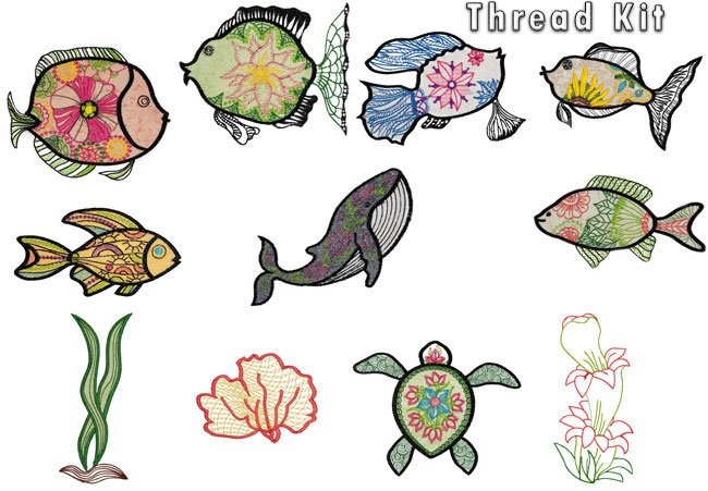 BFC1581 Applique or Not Fishy Friends Thread Kit
